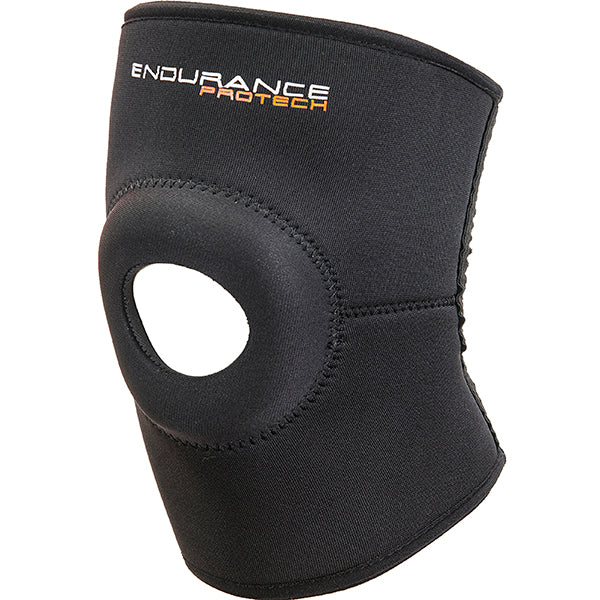 ENDURANCE PROTECH Neoprene Open Knee Support Protection 1001 Black