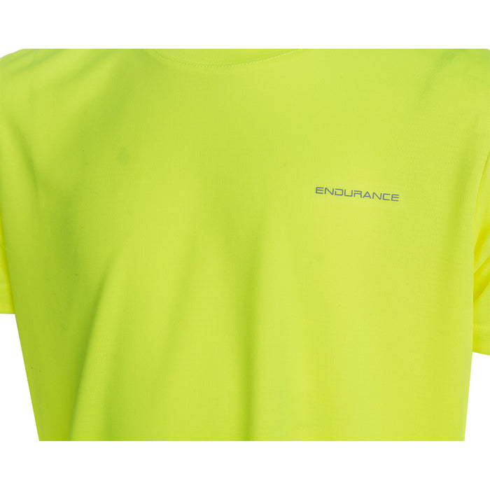 ENDURANCE Vernon Jr. Unisex Performance S/S Tee T-shirt 5001 Safety Yellow