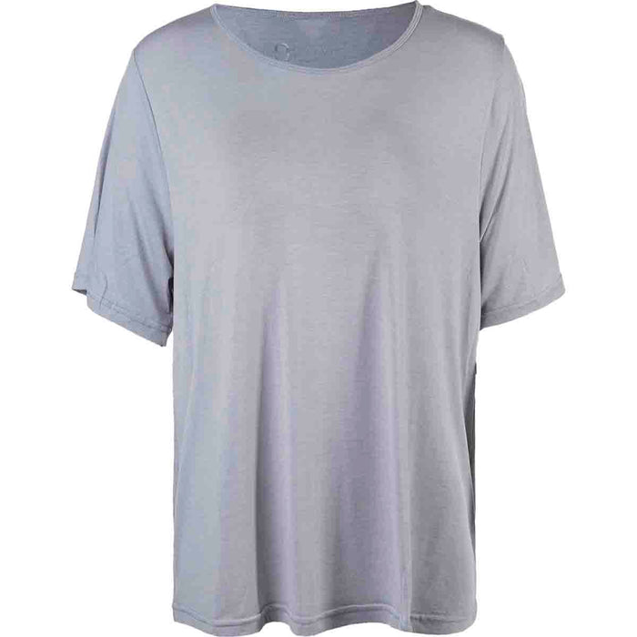 Q Flora W Melange S/S Tee T-shirt 1005 Light Grey Melange