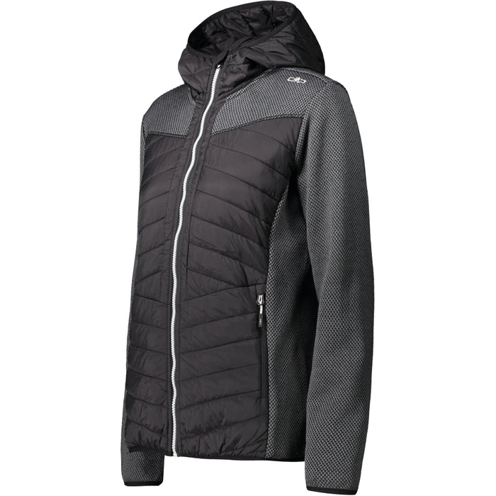 CMP Woman Hybrid Jacket Fix Hood Jacket U901 Nero