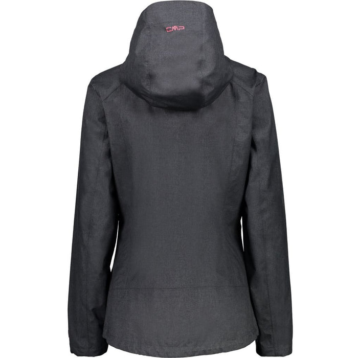 CMP Woman Jacket Fix Hood Jacket U973 Nero Melange