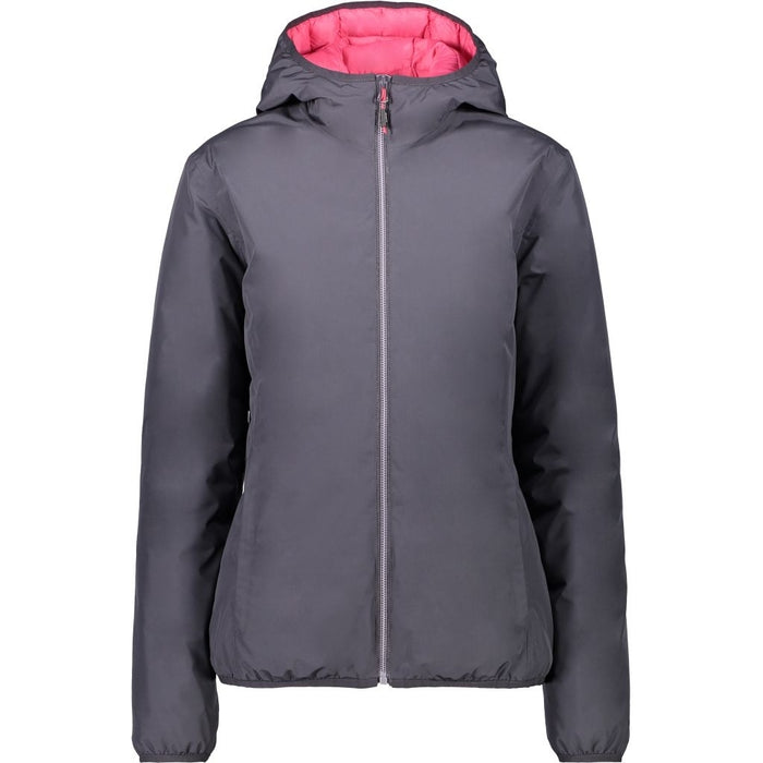CMP Woman Jacket Fix Hood Jacket 21BH Antracite-Corallo