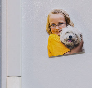 Photo Cutout Magnet 4 inch<br>3 Styles<br><b>Sculpture Cutout<br>Oval/Circle<br>Rectangular</b>