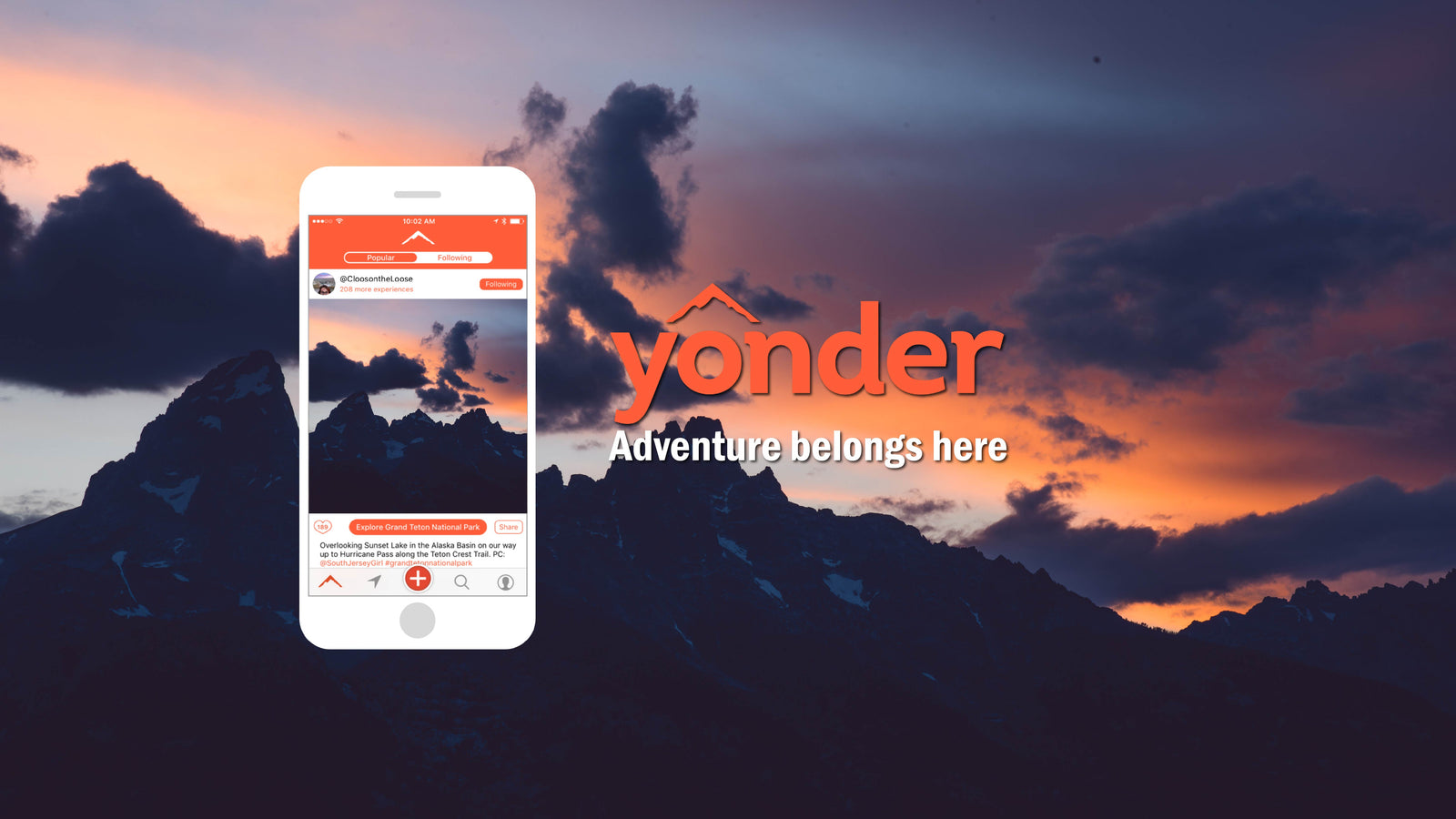 Yonder, a site built for adventurers! Hiking, skiing, climbing, camping, overland