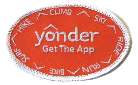 Yonder Orange Logo Patch With White Outline
