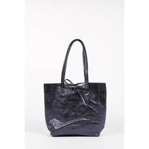 FA-1012-16 Metallic Navy Small Tote
