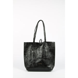 FA-1012-17 Metallic Black Small Tote