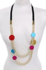 18QDN50 - Avant-garde/Artsy Multi-strand Necklace with Circles