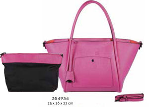 354934 - Synthetic Leather Tote in Fuchsia