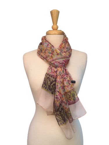 DIM1 - Soft Scarf with Ornamental Paisley Print