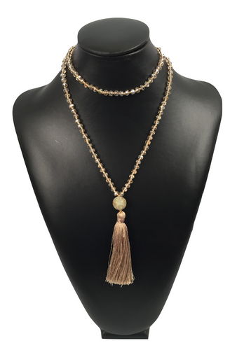 Crystal Necklace with Tassel