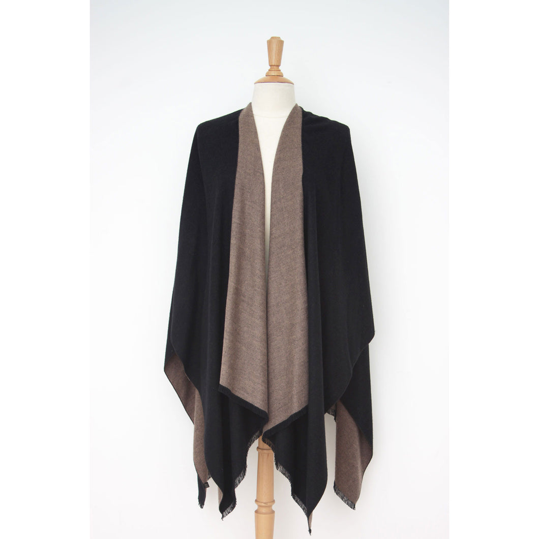 Emma Cape: Black/Taupe