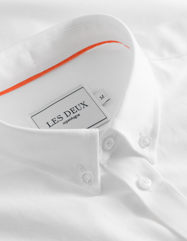 Les Deux MEN Oliver Oxford Shirt Shirt 2020-White