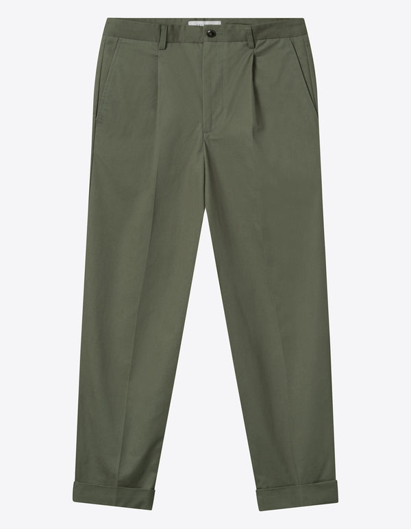 Les Deux MEN Preston Cotton Pants Pants 510510-Lichen Green