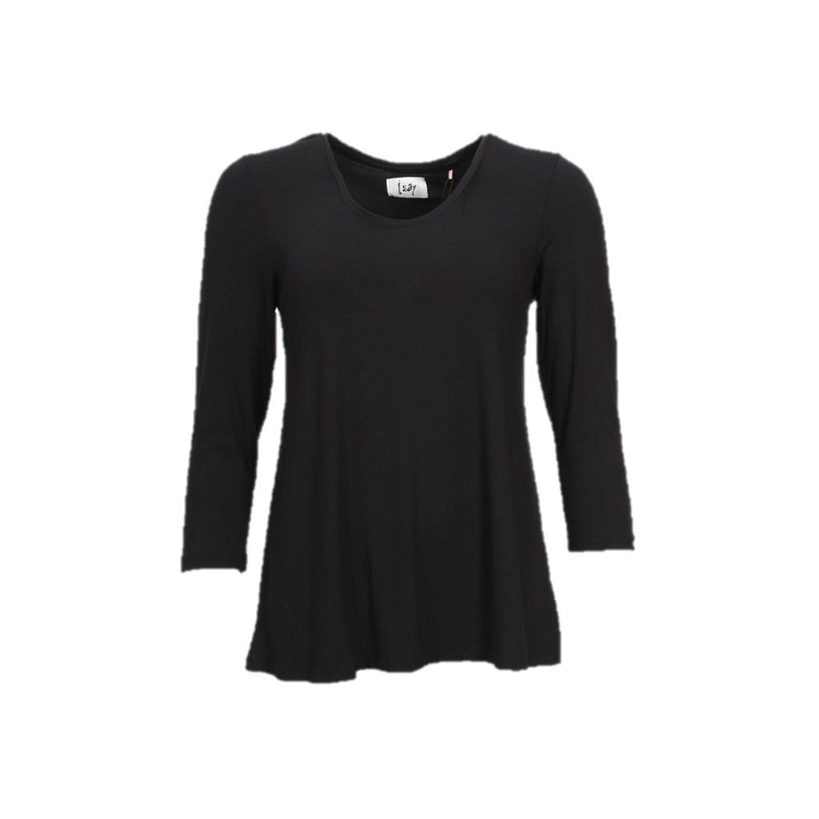 Louis 3/4 Sleeve Blouse - Black