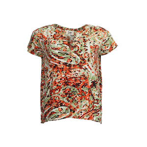 Annica V-Neck Blouse - Colorful Paisley