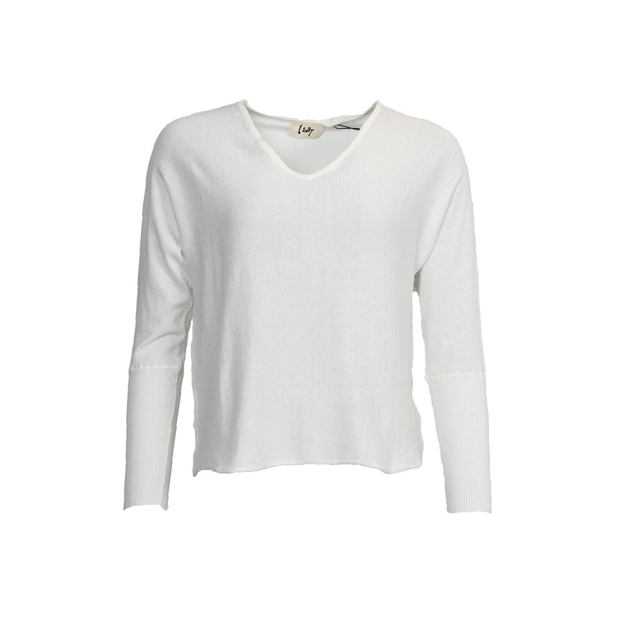 Bozena V-Neck Pullover - Broken White