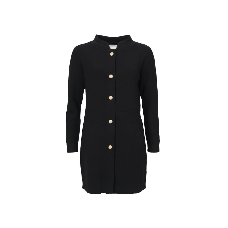 Jena Button Cardigan - Black