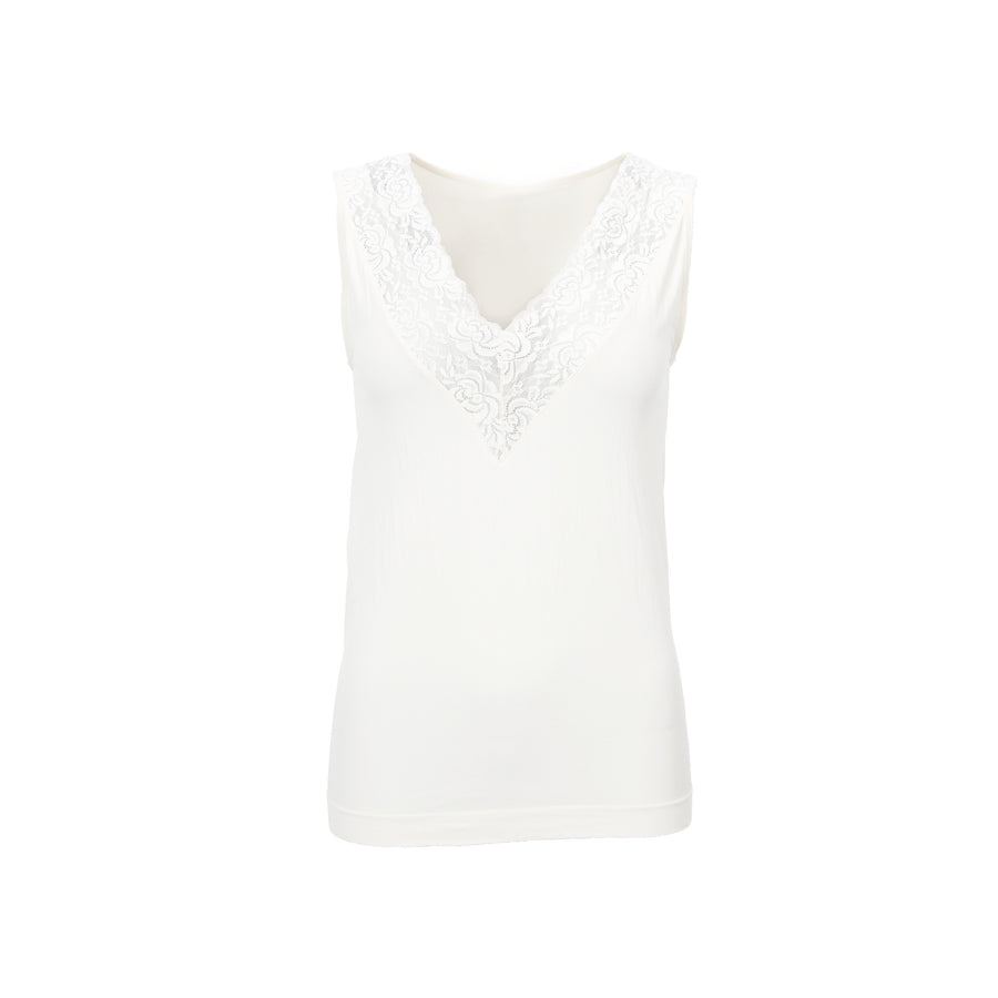 Nilla V-Neck Top - White