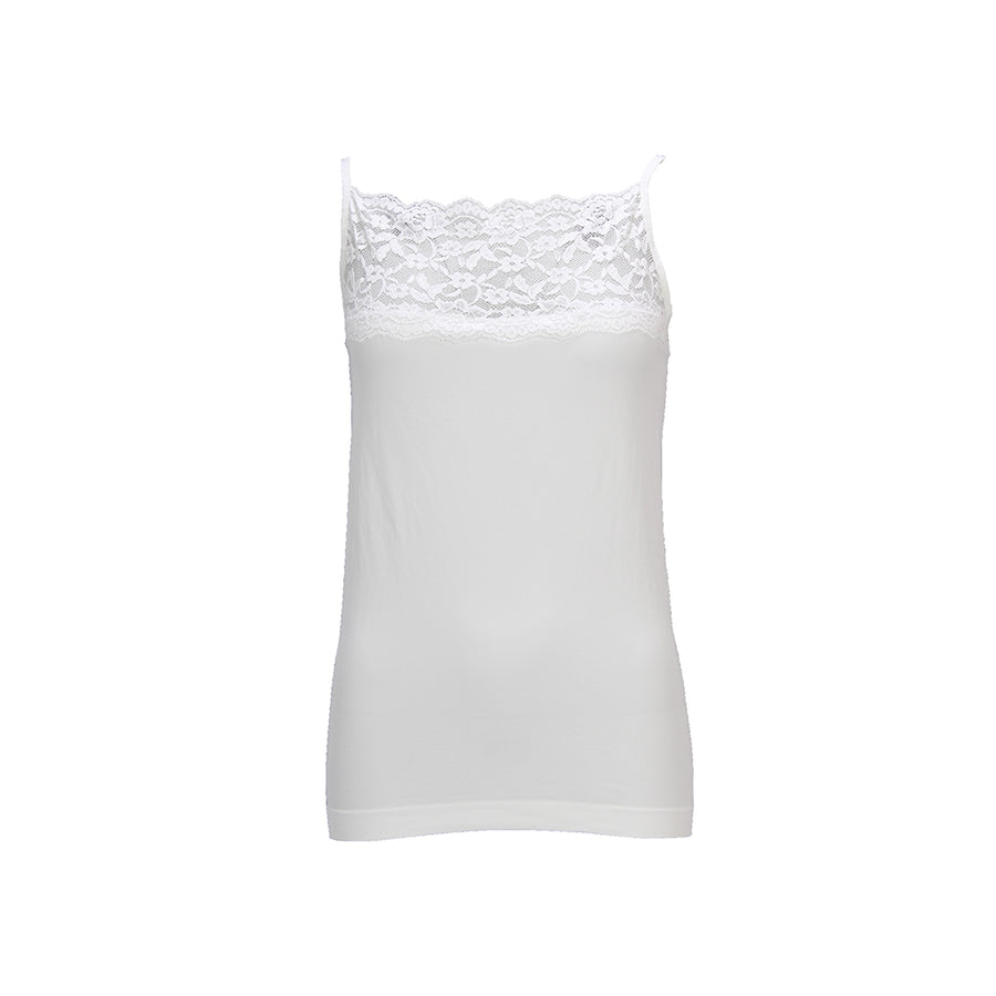 Nilla Wide Lace Top - Broken White