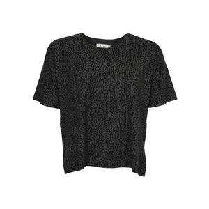 Rubi s/s Knit - Spotted Army - isay.dk