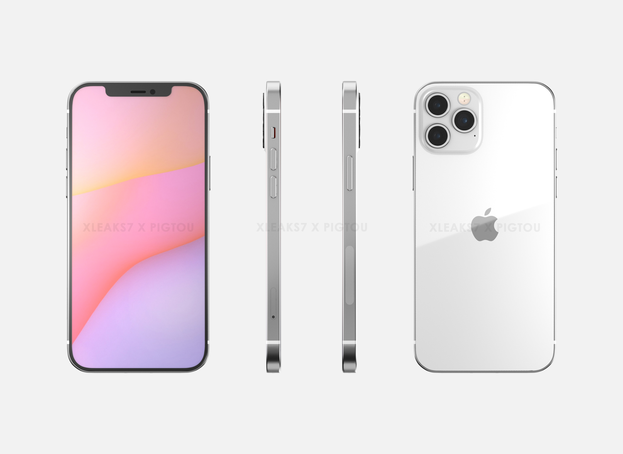 EXCLUSIVE: Leaked Apple iPhone 12 6.1 inch renders show dimensions, ca –  Pigtou
