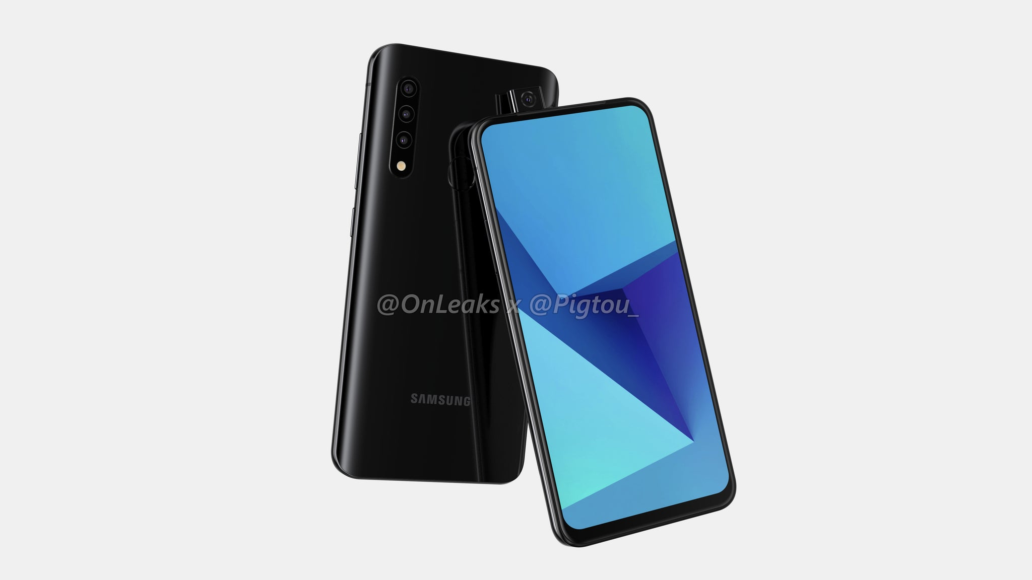 Samsung Galaxy A series with pop-up camera - front and back2