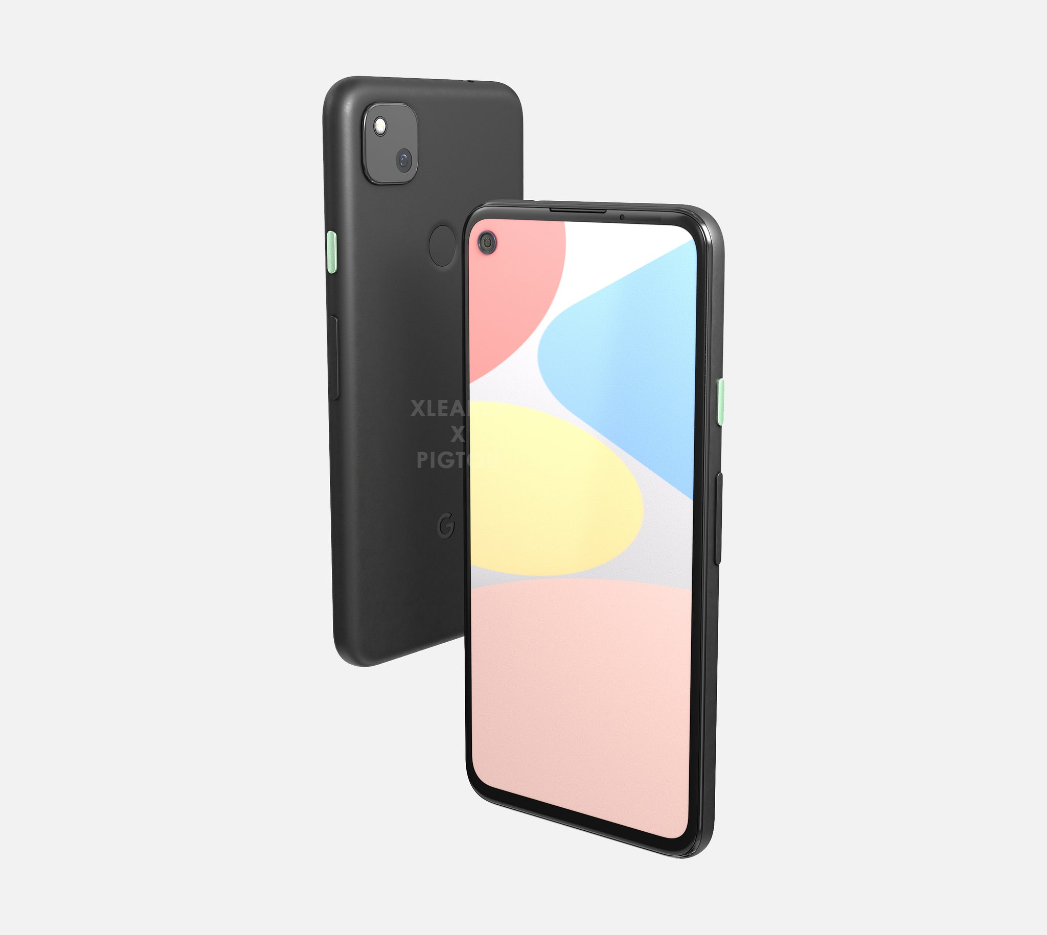 Google Pixel 4a - front and back