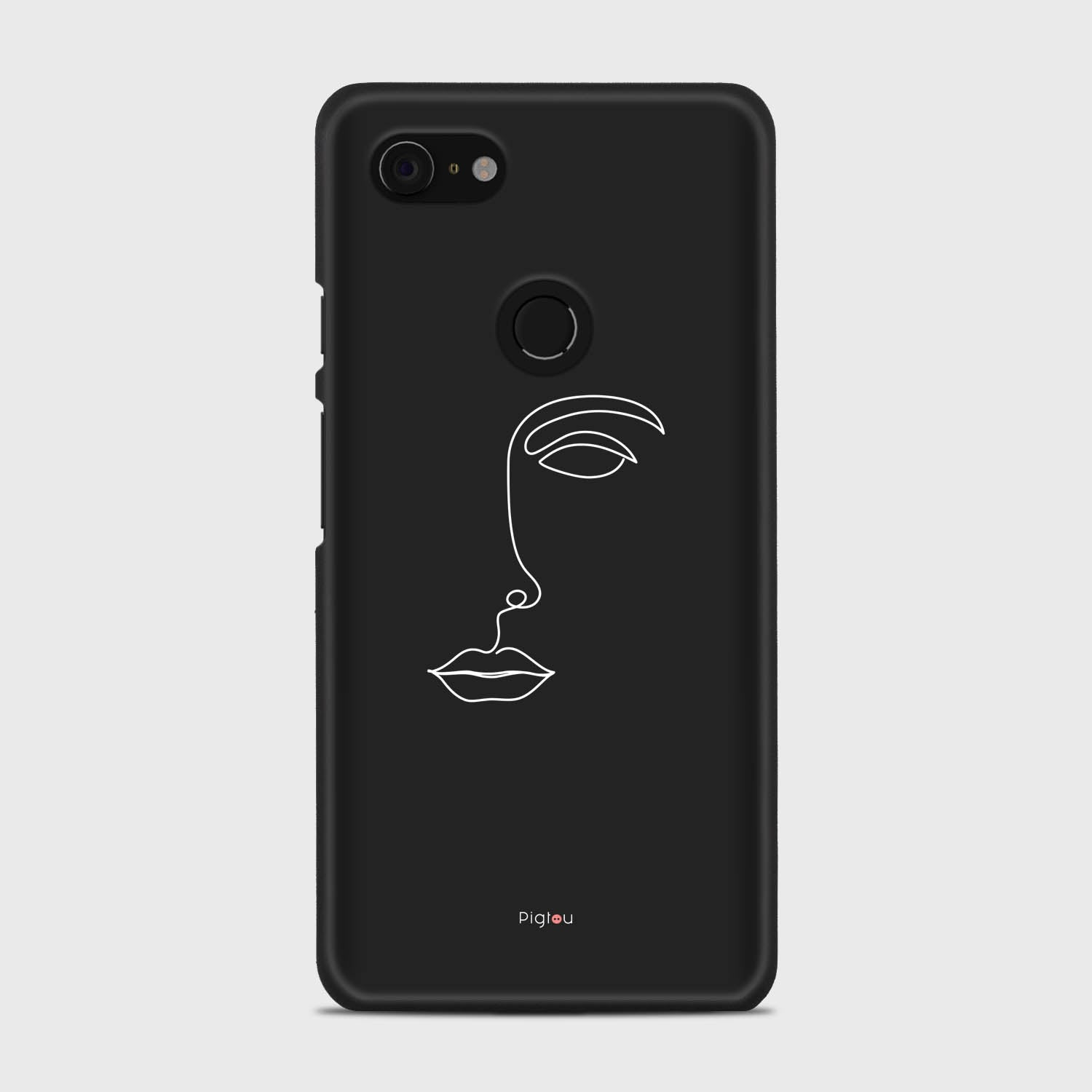 SILHOUETTE FACE Google Pixel 3 XL cases | Pigtou