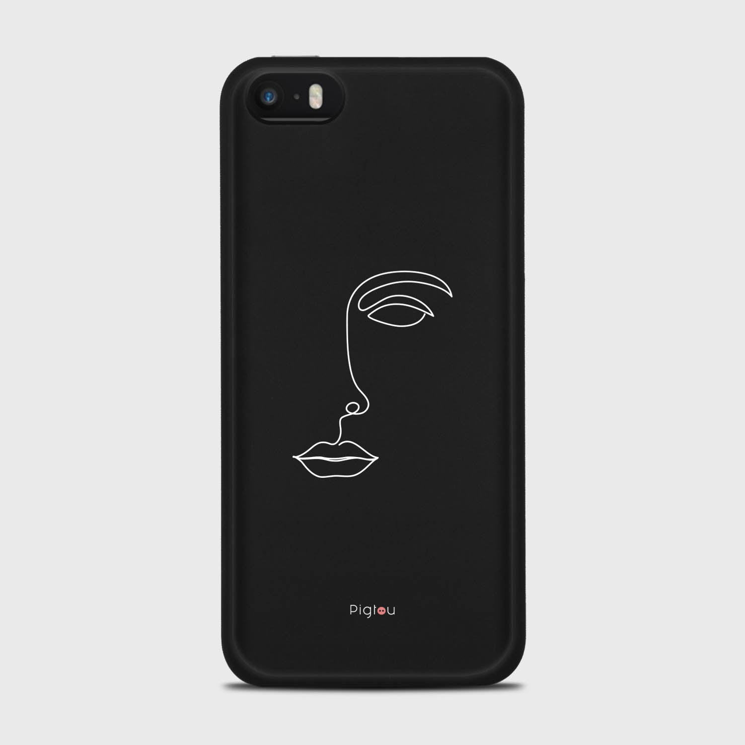 SILHOUETTE FACE iPhone SE cases | Pigtou