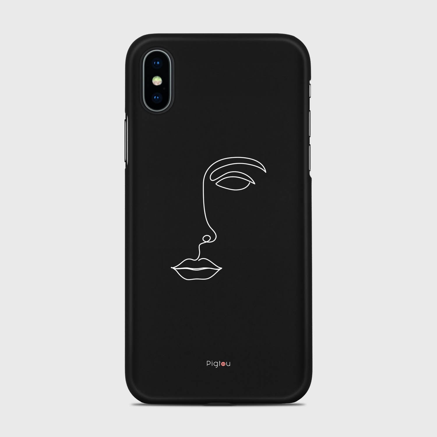 SILHOUETTE FACE iPhone XS cases | Pigtou