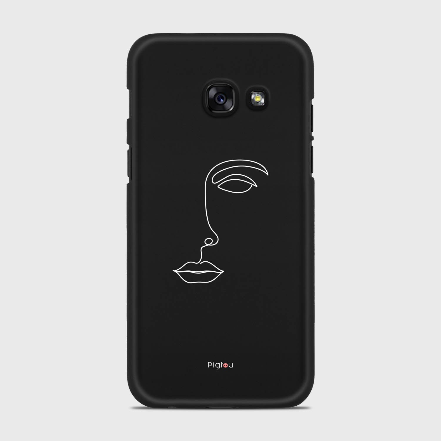 SILHOUETTE FACE Samsung Galaxy A3 cases | Pigtou