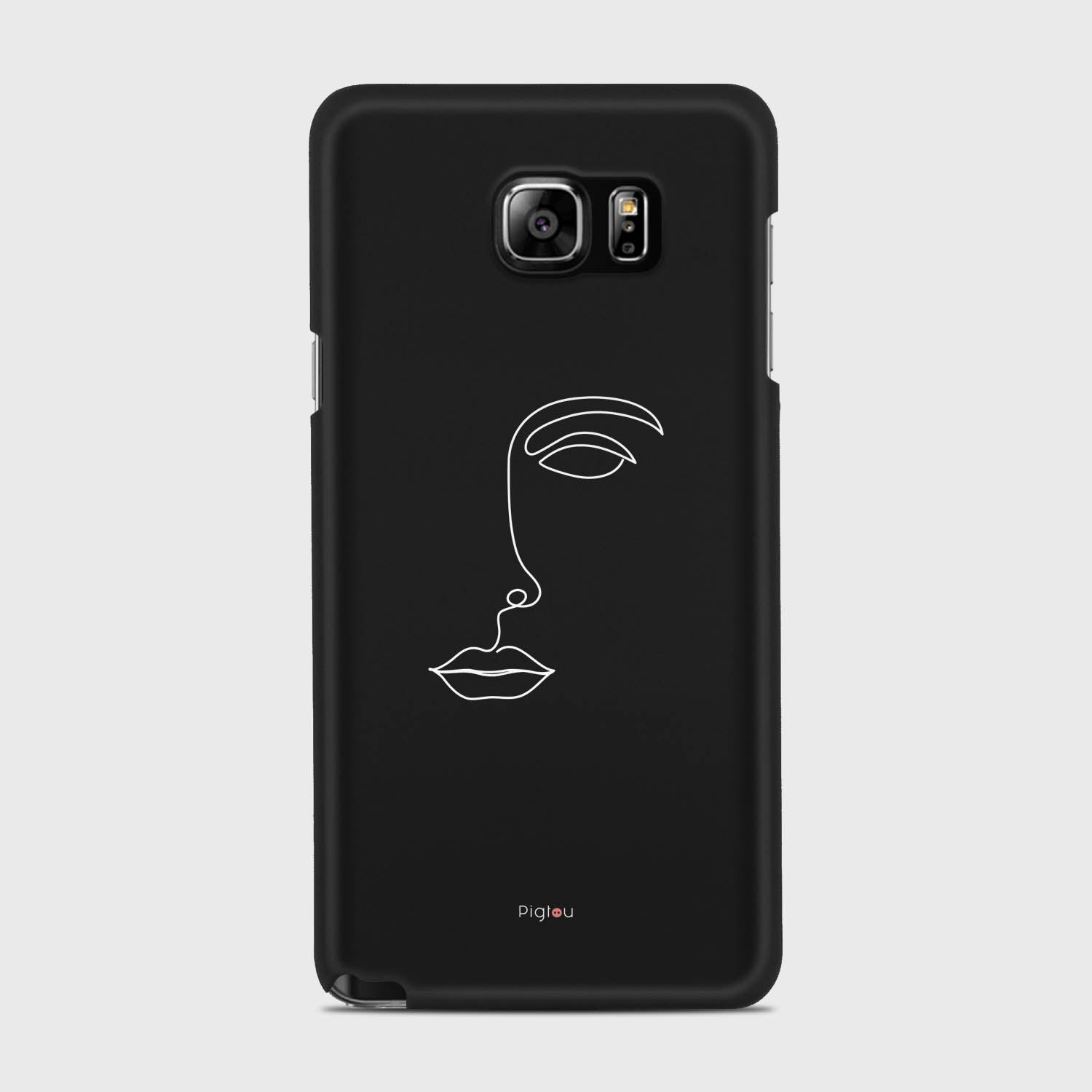 SILHOUETTE FACE Samsung Galaxy Note 5 cases | Pigtou