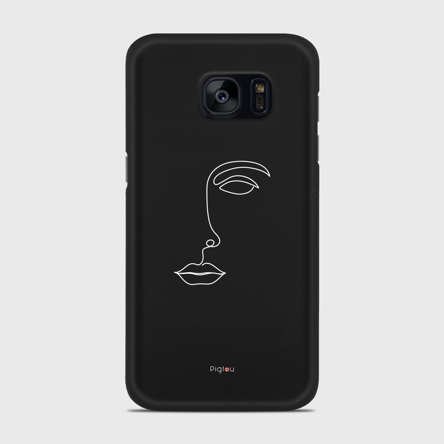 SILHOUETTE FACE Samsung Galaxy S7 cases | Pigtou