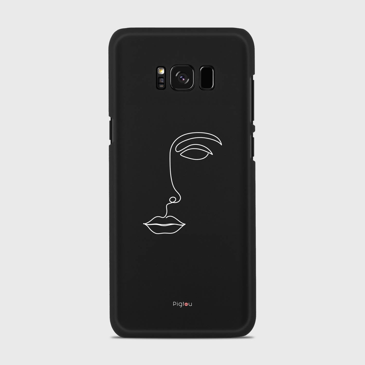 SILHOUETTE FACE Samsung Galaxy S8 cases | Pigtou