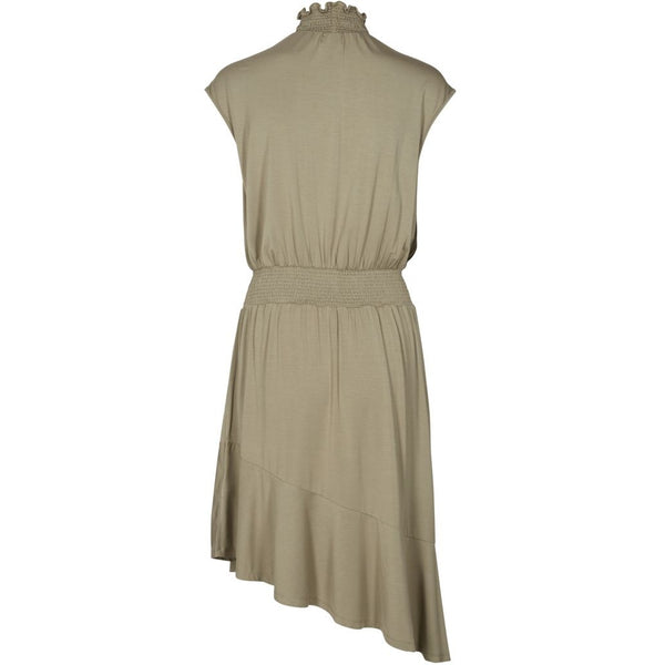 lulu's drawer Alice flounce dress Dress Khaki Green