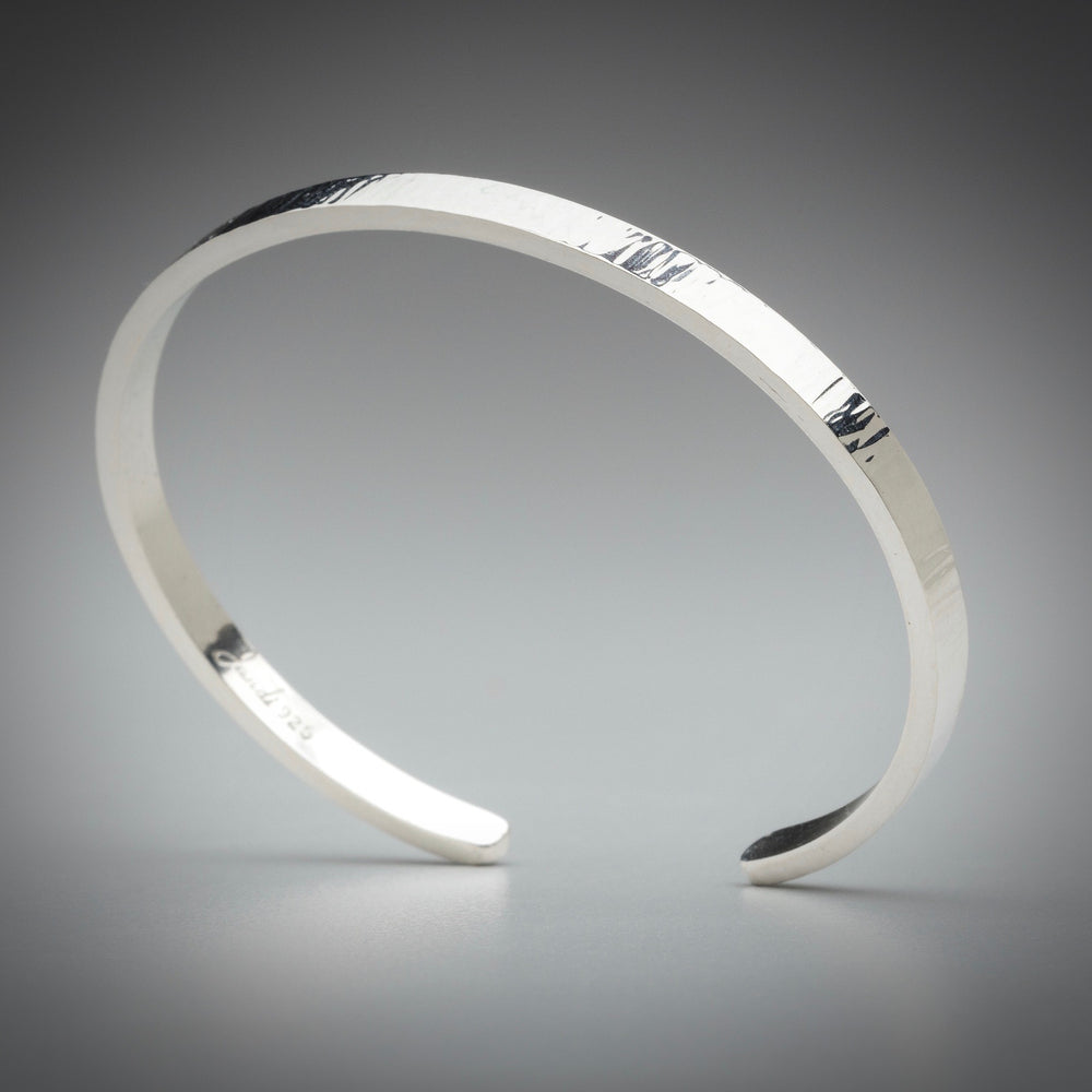 Illuminate Thin Sterling Silver Cuff Bracelet