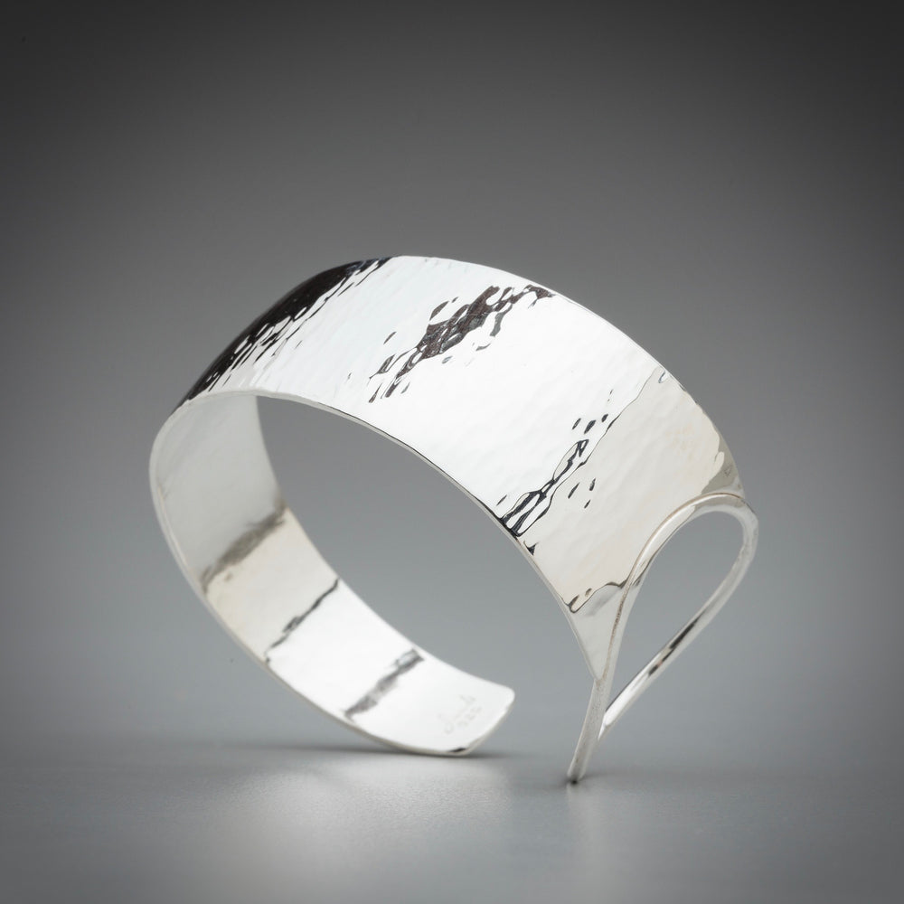 Illuminate Asymmetric Ring Sterling Silver Cuff Bracelet