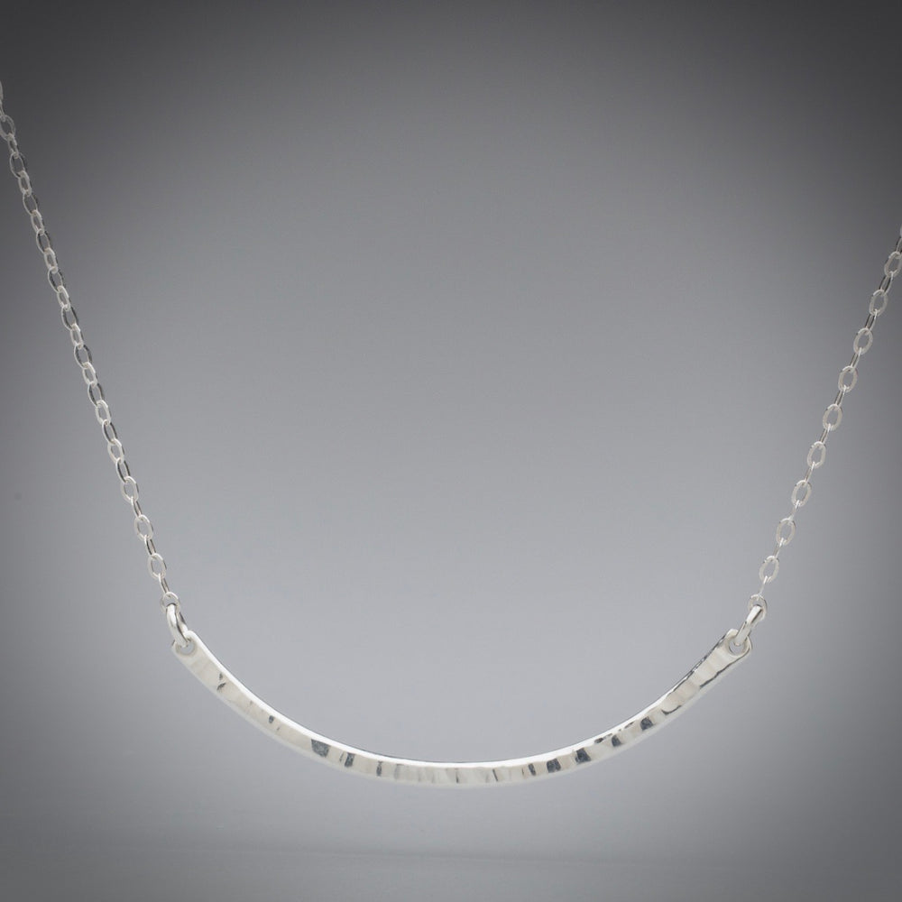 Illuminate Smile Sterling Silver Necklace, artisan sterling silver necklace