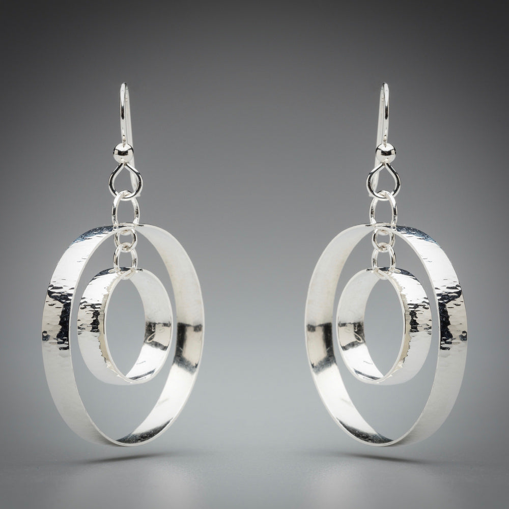 Illuminate Dual Hoop Sterling Silver Earrings