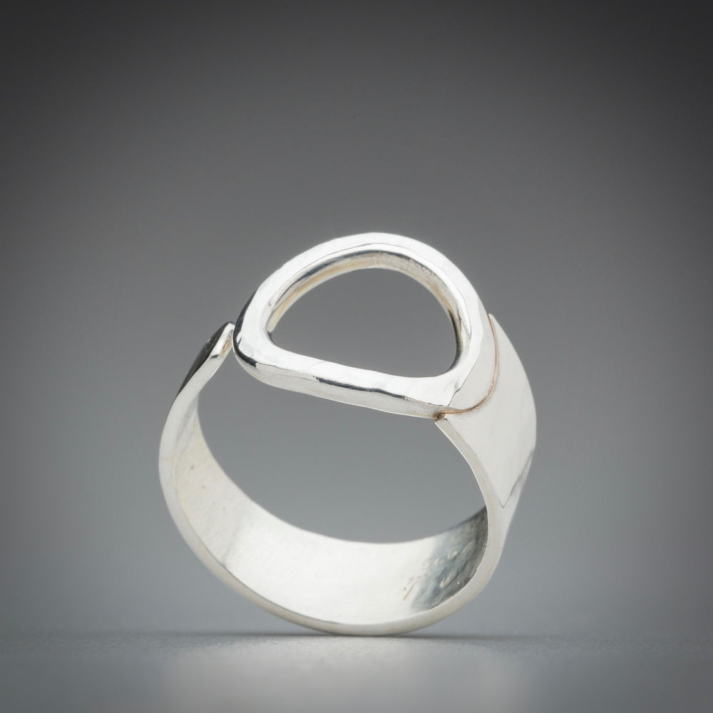 Illuminate Asymmetric Ring Sterling Silver Ring