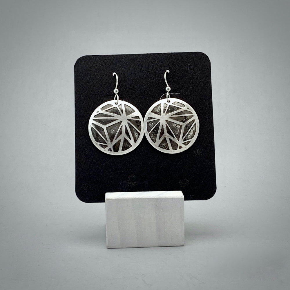 Estrella Sterling Silver Disc Earrings