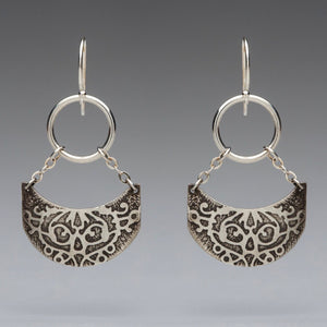 Fierce Curve Chandelier Sterling Silver Earrings, artisan jewelry, handmade silver jewelry