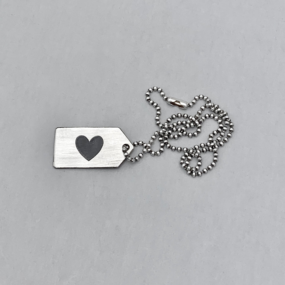 Sterling Silver Tagged Unisex Necklace