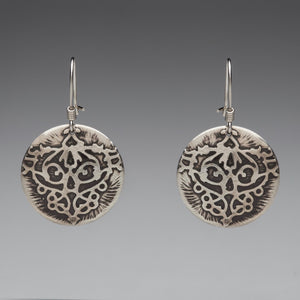 Fierce Disc Sterling Silver Earrings
