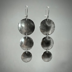 All Sizes Sterling Silver Disc Earrings