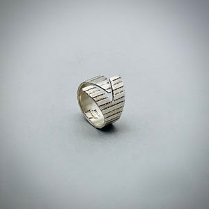 Arrow Stripe Sterling Silver Ring