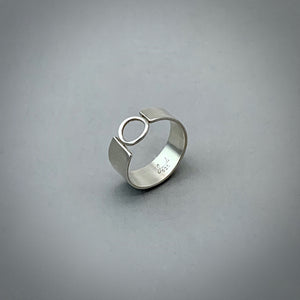Asymmetric Ring Sterling Silver Ring Narrow