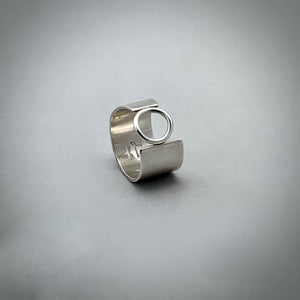 Asymmetric Ring Sterling Silver Ring