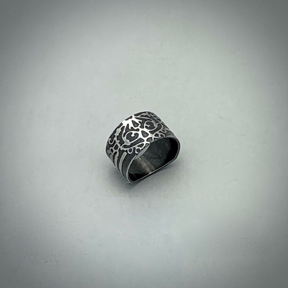 Fierce Stripe Sterling Silver Ring